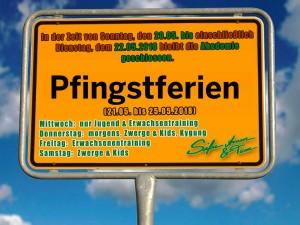 Pfingsten 2018 - Akademie zum Teil geschlossen