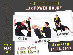 Kleingruppe Power Hour 31.08.19