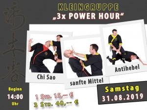 Kleingruppe Power Hour 31.08.19